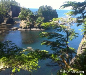 Beautiful Cape Flattery on weekday because a home biz puts us in control of our hours!