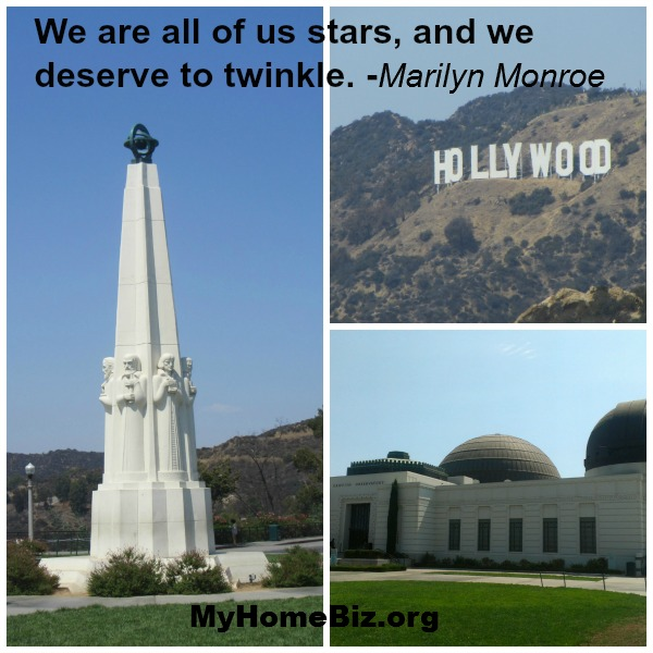 Griffith Observatory and Hollywood sign visited on our home biz excursion