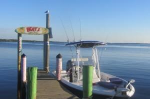 Bert's Bar waterfront at Matlacha
