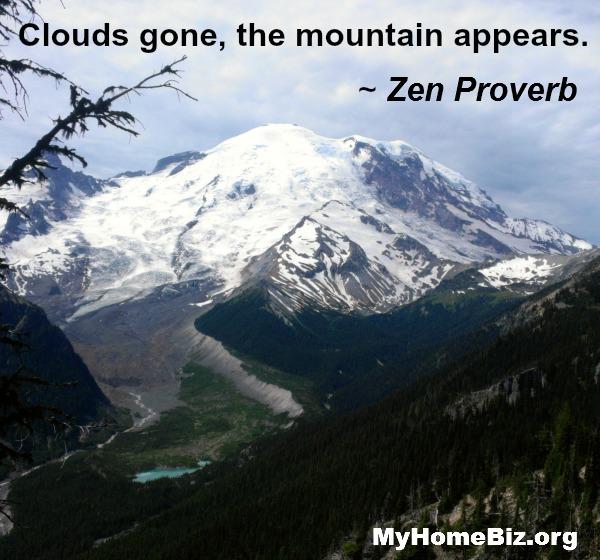 Our Solavei home biz takes in Mt. Rainier, on a quiet TUESDAY!