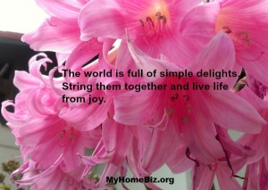 A home biz gives you more time to explore what delights you