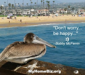 Pelican enjoying the view at Newport Beach on a My Home Biz excursion